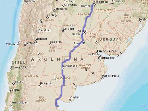 Como llegar a Playas Doradas desde Corrientes